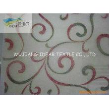 Organza poliester bordada tela para la decoración de la tela/Vestido de novia