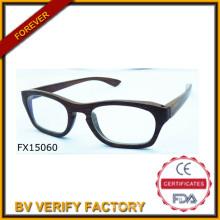 Mode pour 2015 Black lunettes en bois (FX15061)