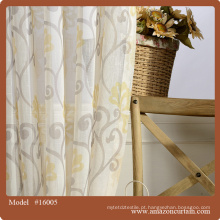 Cortina de linho de design de jardim e tampa de almofada conjuntos / tecido de algodão bordado para cortina, capa de almofada, cama