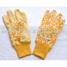Желтый ПВХ точками сада перчатки