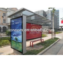 Station d'arrêt de bus en acier inoxydable THC-36