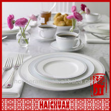 4pcs fine porcelain dinner set, white porcelain dinnerware