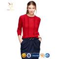 Camisola de caxemira 100% vermelha