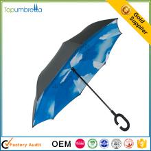 новые инновационные продукты непромокаемые внутри снаружи бесплатно C ручкой перевернутый зонтик