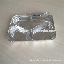 3 Abteil Oblong Folie Dinner Pan Combo Pack mit Folien Board Deckel