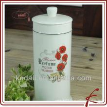 white porcelain face kleenex box holder