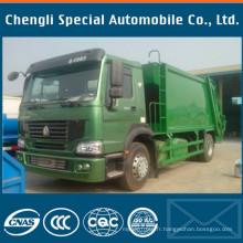 16yards Sinotruk HOWO Truk Sino HOWO camion à ordures Compacteur