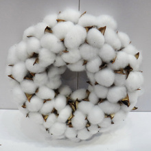D30cm Wholesale Handmade Cotton Wreath Christmas Decoration Craft
