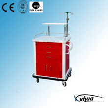 Moveable Steel Painted Hospital Medical Emergency Cart (N-13)