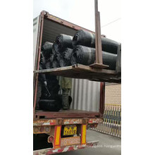 Plastic uniaxial geogrid TGDG150 PP material road construction tensile reinforcing china suppliers