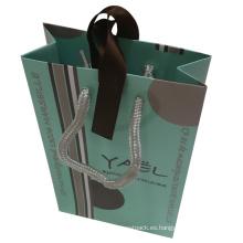 Bolsa de compras de papel impreso en color