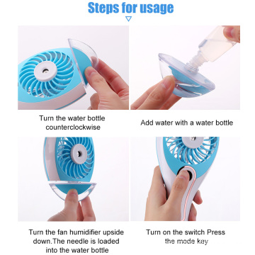 Mini Handheld USB Charge Rechargeable Misting Fan
