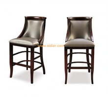 (CL-4402) Luxury Hotel Restaurant Club Furniture Wooden High Barstool Chair
