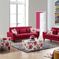 Fabric Upholstered Cushions Chesterfield 321 Sofa Set