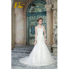 ED Bridal New Product V Neck Sleeveless Lace-up Sheath Wedding Dresses With Beads Appliqued 2017