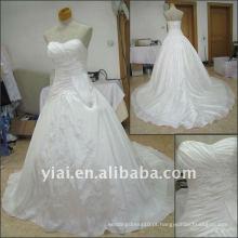 JJ2515 Drop shipping 2011 Vestido de baile estilo Sweetheart Vestido de casamento de tafetá