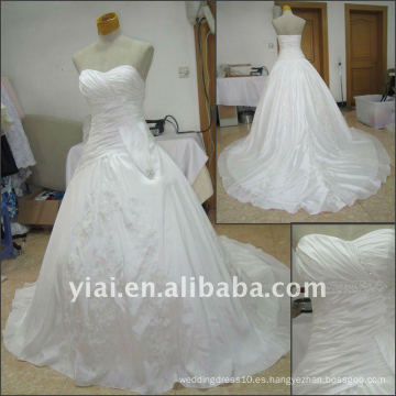 JJ2515 Vestido de boda del tafetán del amor del estilo del vestido de bola del envío 2011 de la gota