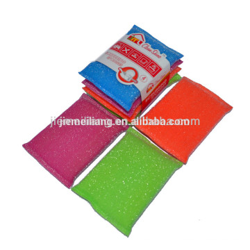 China Yiwu factory Wholesales super kitchen bath mesh sponge scourer