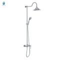 KH-06 hot sale bath shower mixer tap wall mounted chrome finished round tube rain shower, brass chrome bathroom rain shower