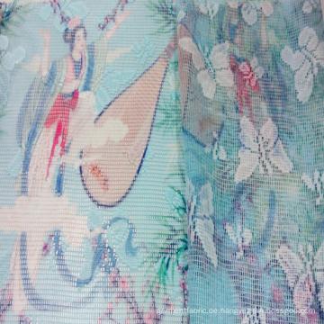 Bedruckte Polyestergewebe Spitze Stoff für Heimtextilien und Bekleidung
