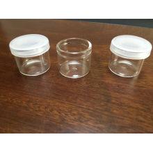 Frasco de vidrio claro Mini de alta calidad para el embalaje de tarro cosmético