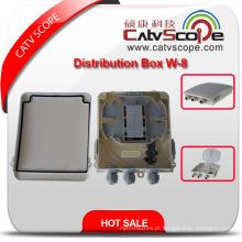 Caixa terminal de alta qualidade de FTTX / caixa de distribuição óptica fibra / ODF W-8