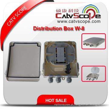 Caixa terminal de FTTX / caixa de distribuição de fibra óptica / ODF W-8