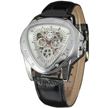 winner triangle case mechanical watch with small dial