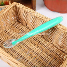 Colorful Silicone Baby Training Spoon