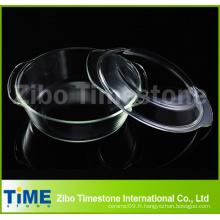 Ensemble de casserole en verre à base de borosilicate et de pyrex (CS-001)