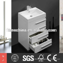 2015 New Commercial vanity bathroom cabinet glass basin cabinet