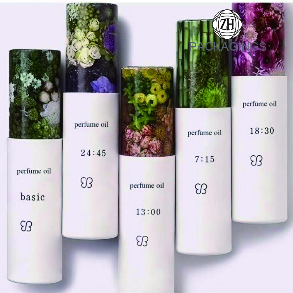 Colorful cardboard tube packaging for cosmetic