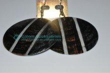 cheap mop carved paua abalone shell earrings supplier
