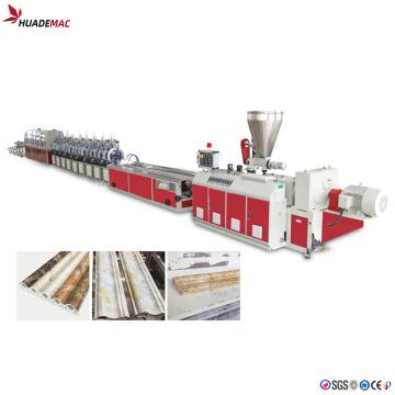 Linha de produção de perfis de mármore de PVC impermeável
