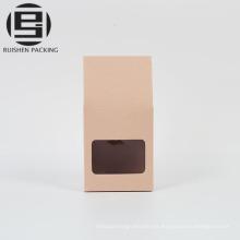 Bolsa de papel kraft rosa de la boda de pie bolsa