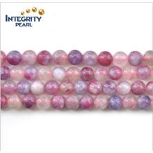 Piedra preciosa natural de la nueva llegada El filamento flojo 5-5.5, 6-6.5, 7, 8 milímetros Turmalina rosada áspera natural