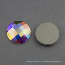 Pierres rondes de cristal d'électrodéposition d'argent de 30mm Ab pour la fabrication de bijoux