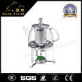 Heat Resistant Glass Transparent Glass Teapot with Infuser and Warmer