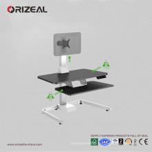Orizeal réglable support d'ordinateur de bureau, contremaître de bureau réglable, support d'ordinateur pour le bureau (OZ-OSDC002)