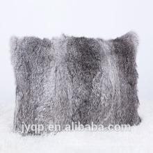 2018wholesale rabbit fur cushion cover