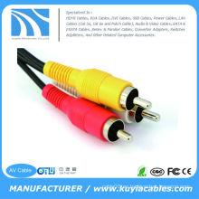 3.5mm a 2 RCA Cable de audio estéreo auxiliar para iPod iPhone 4 Cable de altavoz 4s