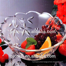 crystal fruit plate ,round glass fruit plate