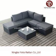 Small Corner Sofa Set in Black (1301)