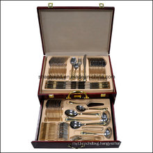 Gold Plating 84PCS Stainless Steel Cutlery Set