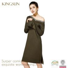 Robe 100% laine mérinos femme, robe à manches longues