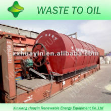 vertical condensers and no tail gas out waste engine oil recycling machine&plant