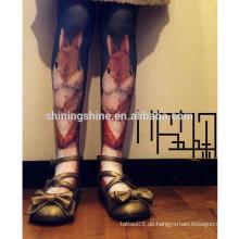 2016 Mode neues Design schwarz und weiß Japan asiatischen Sex Bein Tattoo Strumpf Rohr