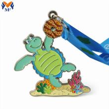 Металлические медали с морской черепахой на заказ