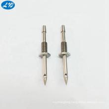 CNC turning machining Sharp needle steel pipe fittingused in hydraulic fitting