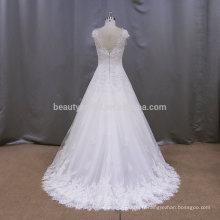 RJU004 dernières robes de mariée sans manches sans fin de design 2017